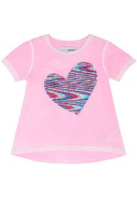 Różowy t-shirt Desigual