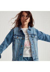 Reserved - Bawełniana koszulka - Kremowy. Kolor: kremowy. Materiał: bawełna