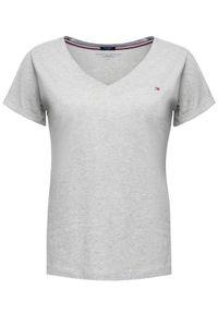 TOMMY HILFIGER - Tommy Hilfiger T-Shirt UW0UW00676 Szary Regular Fit. Kolor: szary