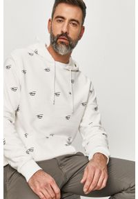 Biała bluza nierozpinana Tommy Jeans na co dzień, casualowa, z kapturem
