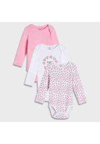 Sinsay - Body 3 pack - Różowy. Kolor: różowy