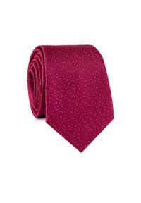 Czerwony krawat Giacomo Conti wizytowy
