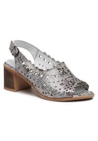 Srebrne sandały Loretta Vitale