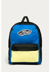 Niebieski plecak Vans z aplikacjami