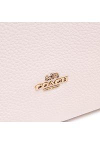 Beżowa torebka klasyczna Coach skórzana