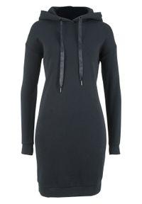 Czarna sukienka bonprix z kapturem