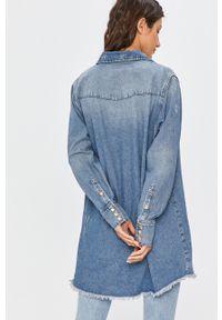 Niebieska koszula Answear Lab na co dzień, długa, z klasycznym kołnierzykiem, wakacyjna