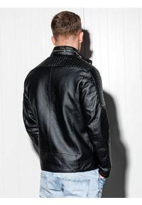 Czarna kurtka Ombre Clothing ze stójką, na co dzień, casualowa