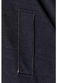 United Colors of Benetton - Poncho. Kolor: czarny. Materiał: dzianina, materiał. Wzór: gładki