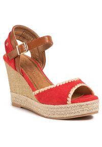 Czerwone sandały Refresh na co dzień, casualowe