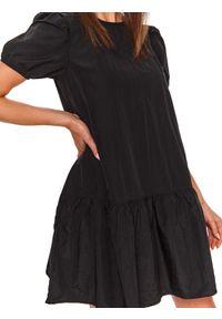 Czarna sukienka TOP SECRET koszulowa, mini