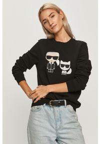Czarna bluza Karl Lagerfeld z długim rękawem, casualowa