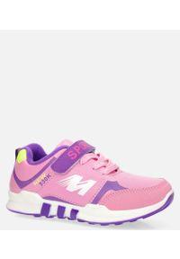 Casu - różowe buty sportowe casu 20x2/m. Kolor: różowy