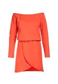 Born2be - Pomarańczowa Sukienka Metiothyia. Kolor: pomarańczowy