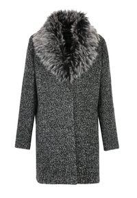 Szary płaszcz TOP SECRET na zimę, elegancki, na co dzień