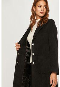 Czarny płaszcz Hugo na co dzień, bez kaptura, casualowy