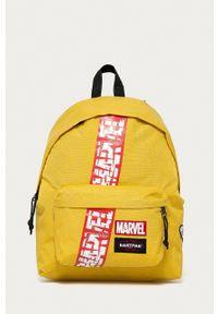 Eastpak - Plecak x Marvel. Kolor: żółty. Materiał: poliester. Wzór: motyw z bajki