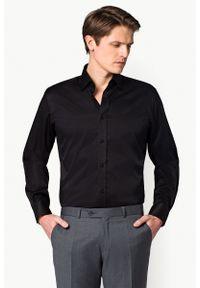 Czarna koszula Lancerto na co dzień, casualowa