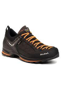 Czarne buty trekkingowe Salewa z cholewką, Gore-Tex, trekkingowe