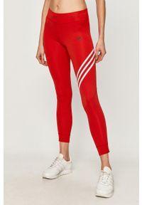 Czerwone legginsy adidas Performance z aplikacjami