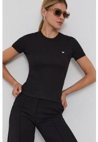 Chiara Ferragni - T-shirt bawełniany Logo Basic. Okazja: na co dzień. Kolor: czarny. Materiał: bawełna. Wzór: aplikacja. Styl: casual