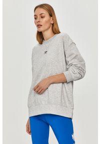 adidas Originals - Bluza. Kolor: szary. Materiał: dzianina. Długość rękawa: długi rękaw. Długość: długie