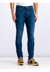 Pepe Jeans Jeansy Stanley PM201705 Granatowy Slim Fit. Kolor: niebieski