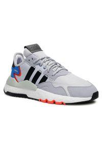 Adidas - Buty adidas - Nite Jogger FX6835 Dshgry/Cblack/Halsil. Zapięcie: sznurówki. Kolor: szary. Materiał: materiał. Szerokość cholewki: normalna. Sezon: lato. Styl: klasyczny