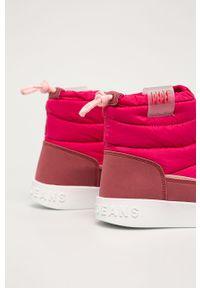 Różowe buty zimowe Pepe Jeans z okrągłym noskiem, na zimę