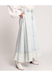 ONETEASPOON - Spódnica maxi Maverick. Stan: podwyższony. Kolor: biały. Materiał: jeans. Długość: długie
