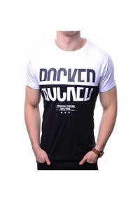 Biały t-shirt z nadrukiem Recea casualowy, z krótkim rękawem, na co dzień