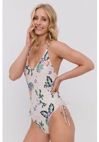 Vero Moda - Strój kąpielowy. Kolor: beżowy