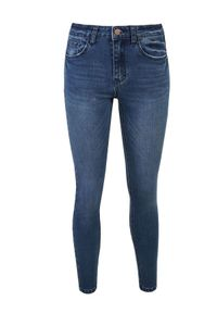 Niebieskie spodnie TOP SECRET na wiosnę, w kolorowe wzory, klasyczne