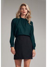 Zielona bluzka Figl ze stójką