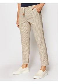 Imperial Spodnie materiałowe PM11BPU Beżowy Slim Fit. Kolor: beżowy. Materiał: materiał