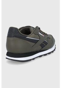 Reebok Classic - Buty Classic Leather. Nosek buta: okrągły. Zapięcie: sznurówki. Kolor: zielony. Materiał: guma. Model: Reebok Classic