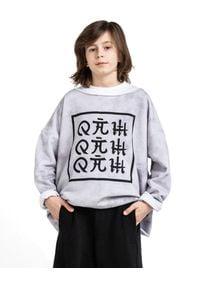 ROBERT KUPISZ - Szara bluza ORIENT z logo marki. Kolor: szary. Materiał: dresówka. Długość rękawa: długi rękaw. Długość: długie
