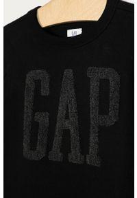 Czarna bluza GAP casualowa, na co dzień, z aplikacjami