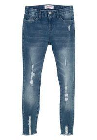 Niebieskie jeansy bonprix sportowe