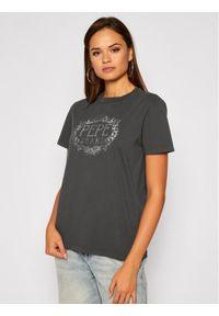 Pepe Jeans T-Shirt Doris PL504623 Szary Regular Fit. Kolor: szary