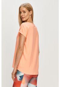 Only Play - T-shirt. Okazja: na co dzień. Kolor: pomarańczowy. Materiał: elastan, dzianina, poliester. Wzór: gładki. Styl: casual #3