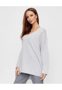 LE TRICOT PERUGIA - Szary sweter z kaszmiru. Kolor: szary. Materiał: kaszmir. Długość rękawa: długi rękaw. Długość: długie. Styl: elegancki