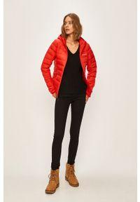 Czerwona kurtka columbia na co dzień, z kapturem, casualowa #6