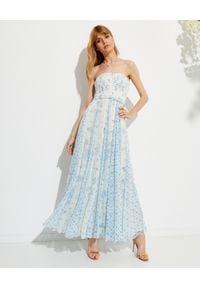 ROCOCO SAND - Sukienka maxi Leas. Kolor: niebieski. Materiał: wiskoza, materiał. Długość rękawa: na ramiączkach. Wzór: nadruk, kwiaty. Długość: maxi