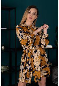 Merribel - Sukienka w Fasonie Szmizjerki. Materiał: poliester, elastan. Typ sukienki: szmizjerki