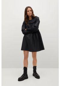 Czarna sukienka mango oversize, na co dzień, gładkie