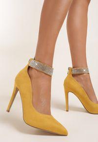 Żółte szpilki Renee na szpilce