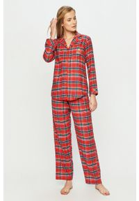 Czerwona piżama Lauren Ralph Lauren długa