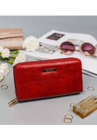 4U CAVALDI - Portfel damski czerwony Cavaldi LPD-01-5280 RED. Kolor: czerwony. Materiał: skóra ekologiczna