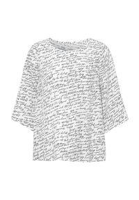 Cellbes Wzorzysta bluzka z rękawem 3/4 biały we wzory female biały/ze wzorem 38/40. Kolor: biały. Materiał: włókno, wiskoza, tkanina. Styl: elegancki